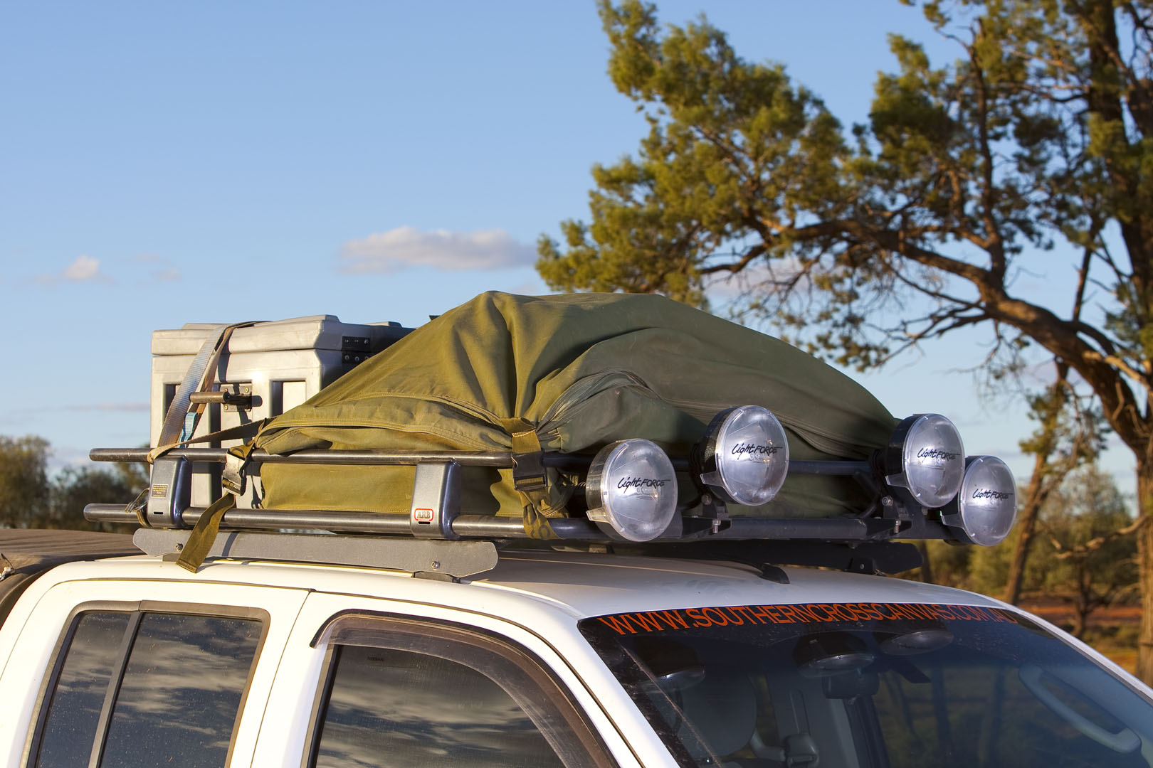 5x4 Roof Rack Bag Southern Cross Canvas Products